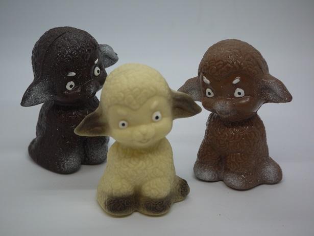 Agneaux assis chocolat artisanal Oise Beauvais