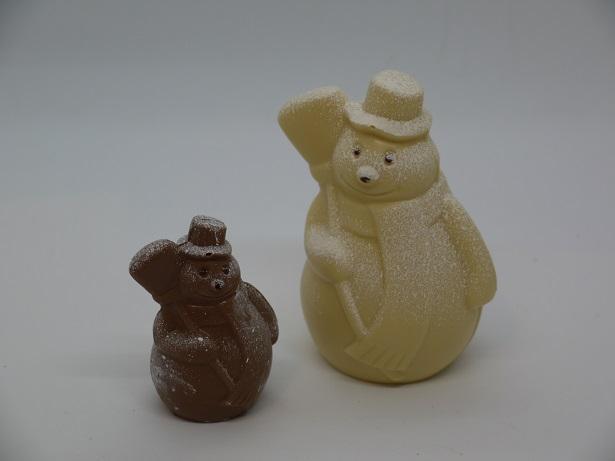 Bonhomme de neige balai petit et grand modèle, artisan chocolatier Beauvais Oise