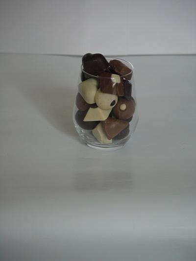 Drink 3€ pièce, peut contenir jusqu'à 190g de chocolats