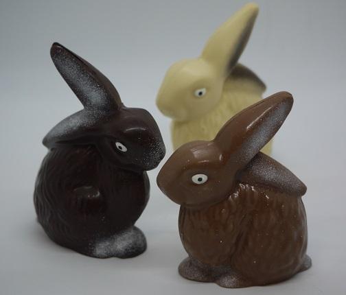 Lapins oreilles cassées chocolat artisanal Beauvais Oise