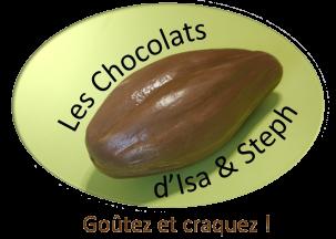 Logo les chocolats d isa steph transparent moins lourd