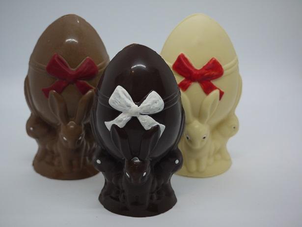 Oeufs portés par lapins artisan chocolatier Beauvais Oise