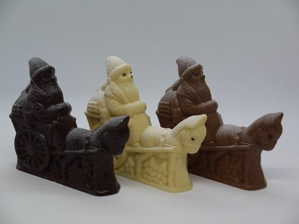 Père Noël avec âne, chocolat artisanal Beauvais Oise