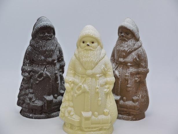 Père Noël avec cape chocolat artisanal Oise Beauvais