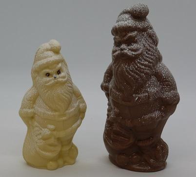 Père Noël avec sac petit et grand modèle chocolat artisanal Beauvais Oise