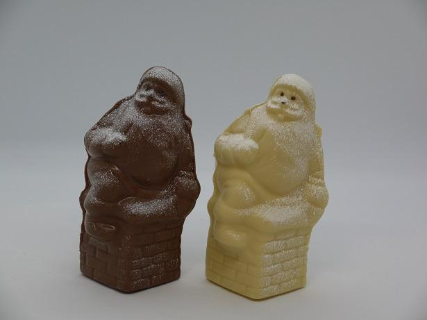 Père Noël cheminée artisan chocolatier Beauvais Oise