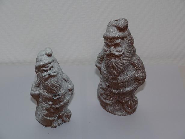Pères Noël sac enneigés en chocolat