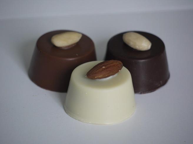 Praliné amande chocolat au lait, Rocher amande, chocolat artisanal Oise Beauvais