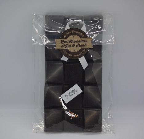 Tablette 70% de cacao chocolat noir artisan Beauvais Oise