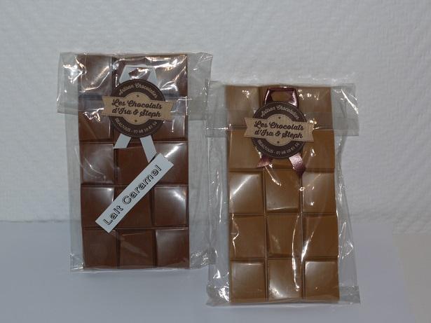 Tablettes blanc caramel lait caramel